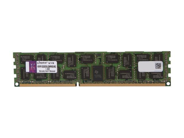 Kingston 8GB 240-Pin DDR3 SDRAM ECC Registered DDR3 1333 Server Memory QR x8 1.35V Model KVR1333D3LQ8R9S/8G