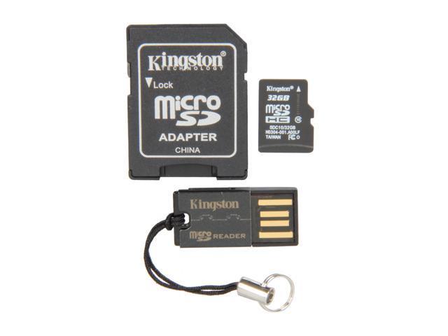 Kingston 32GB microSDHC Flash Card (Multi Kit / Mobility Kit) Model MBLY10G2/32GB