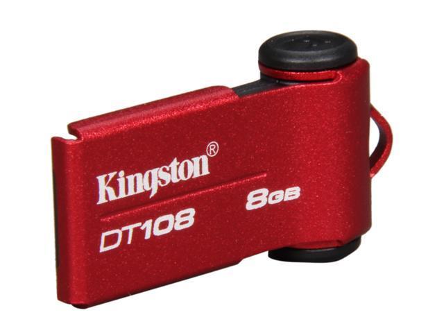 Kingston DataTraveler 108 8GB USB 2.0 Flash Drive (Red)