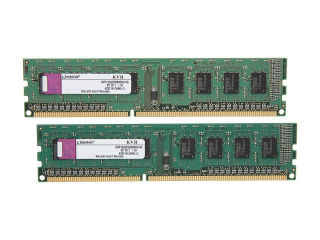 Kingston Value 4GB (2 x 2GB) 240-Pin DDR3 SDRAM DDR3 1333 Desktop Memory Model KVR1333D3S8N9K2/4G