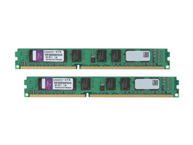 Kingston Value 4GB (2 x 2GB) 240-Pin DDR3 SDRAM DDR3 1066 Desktop Memory Model KVR1066D3S8N7K2/4G