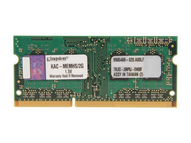 Kingston 2GB 204-Pin DDR3 SO-DIMM DDR3 1066 System Specific Memory Model KAC-MEMHS/2G