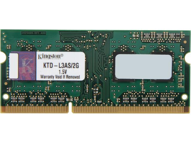 Kingston 2GB 204-Pin DDR3 SO-DIMM DDR3 1066 System Specific Memory Model KTD-L3AS/2G