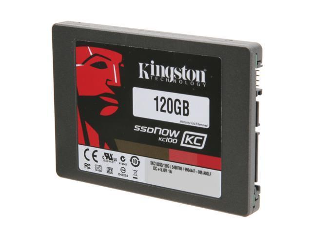 "Kingston SSDNow KC100 Series 2.5"" 120GB SATA III Internal Solid State Drive (SSD)  (stand-alone drive) SKC100S3/120G"
