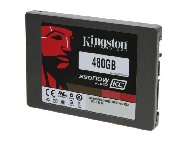 "Kingston SSDNow KC100 Series 2.5"" 480GB SATA III Internal Solid State Drive (SSD)  (stand-alone drive) SKC100S3/480G"
