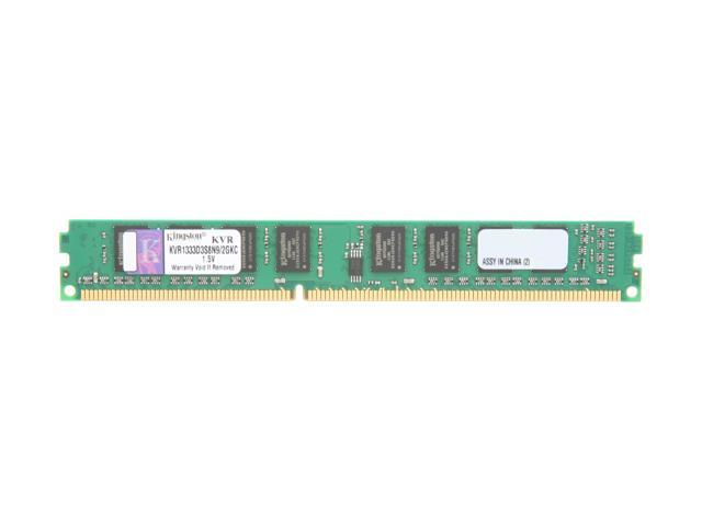 Kingston 2GB 240-Pin DDR3 SDRAM DDR3 1333 Desktop Memory Model KVR1333D3S8N9/2GKC
