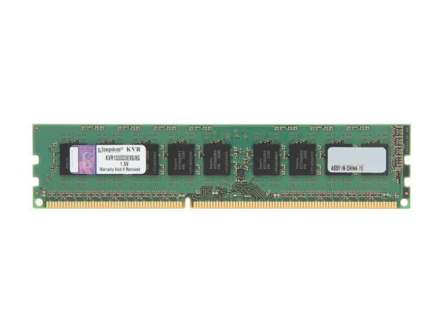 Kingston 8GB 240-Pin DDR3 SDRAM ECC Unbuffered DDR3 1333 Server Memory Model KVR1333D3E9S/8G