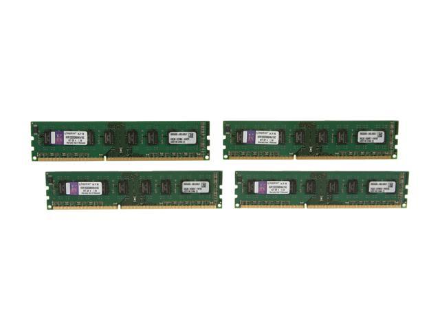 Kingston 16GB (4 x 4GB) 240-Pin DDR3 SDRAM DDR3 1333 Desktop Memory STD Height 30mm Model KVR1333D3N9HK4/16G