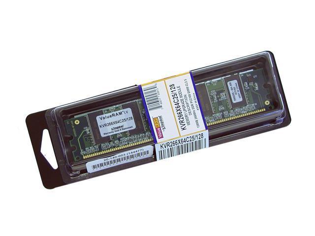 Kingston ValueRAM 128MB 184-Pin DDR SDRAM DDR 266 (PC 2100) Desktop Memory Model KVR266X64C25/128