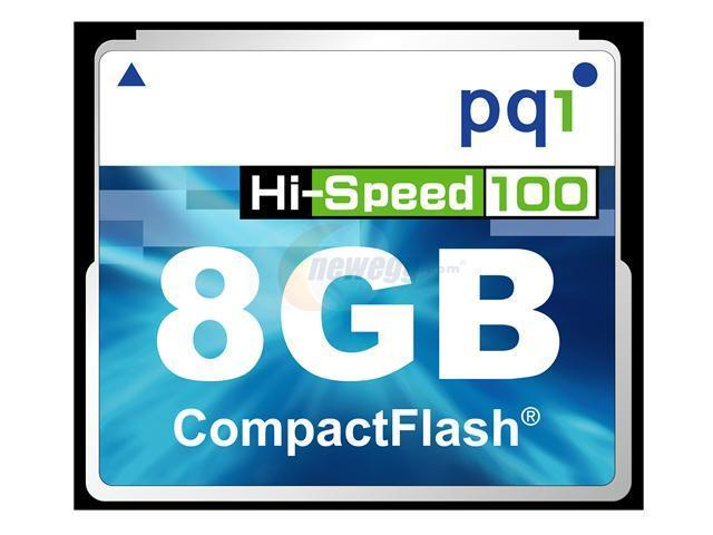 PQI 8GB Compact Flash (CF) Flash Card Model AC61-8030R0101
