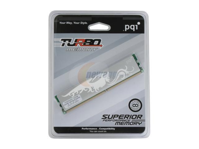 PQI TURBO 1GB 240-Pin DDR2 SDRAM DDR2 667 (PC2 5400) Desktop Memory Model PQI25400-1GSB