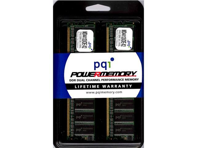 PQI POWER Series 512MB (2 x 256MB) 184-Pin DDR SDRAM DDR 400 (PC 3200) Dual Channel Kit Desktop Memory Model MD4412UOE-X2