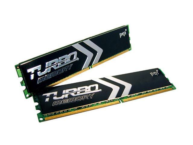 PQI TURBO 2GB (2 x 1GB) 184-Pin DDR SDRAM DDR 400 (PC 3200) Dual Channel Kit Desktop Memory Model PQI3200-2048DB