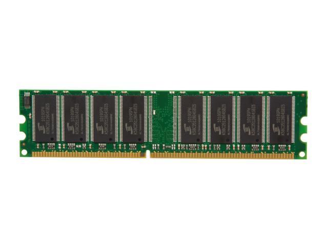 Kingston ValueRAM 1GB 184-Pin DDR SDRAM DDR 400 (PC 3200) Desktop Memory Model KVR400X64C3A/1G