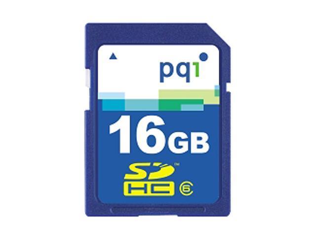 PQI 16GB Secure Digital High-Capacity (SDHC) Flash Card Model AE71-1630R01FZ