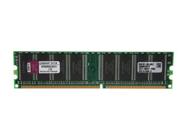 Kingston ValueRAM 512MB 184-Pin DDR SDRAM DDR 400 (PC 3200) Desktop Memory Model KVR400X64C3A/512