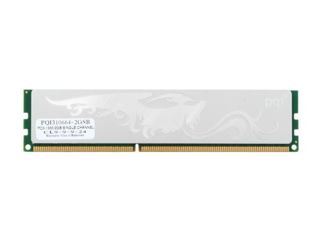 PQI TURBO 2GB 240-Pin DDR3 SDRAM DDR3 1333 Desktop Memory Model PQI310664-2GSB