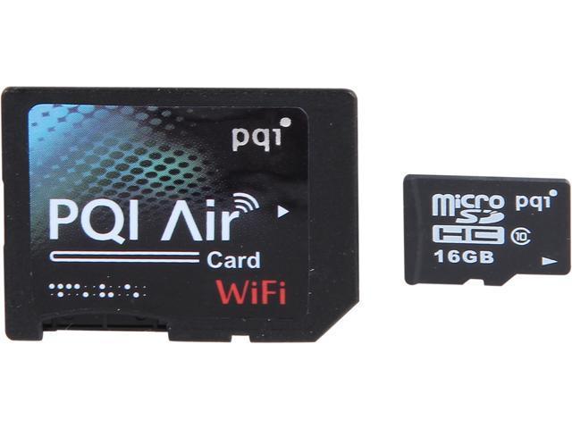 PQI Air Card 16GB Wireless Flash Memory Wi-Fi Memory Card Model 6W25-016GR1