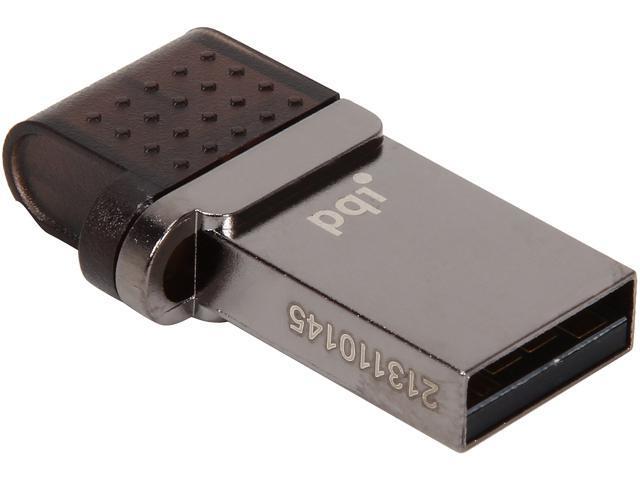 PQI 32GB USB 2.0/Micro USB Flash Drive