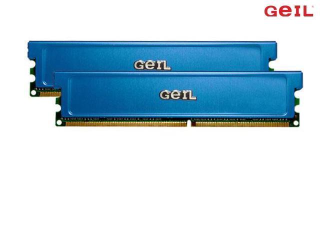 GeIL 2GB (2 x 1GB) 184-Pin DDR SDRAM DDR 400 (PC 3200) Dual Channel Kit Desktop Memory Model GE2GB3200BDCK
