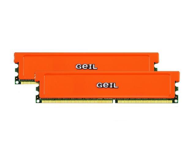 GeIL 2GB (2 x 1GB) 240-Pin DDR2 SDRAM DDR2 800 (PC2 6400) Dual Channel Kit Desktop Memory Model GX22GB6400UDCA=