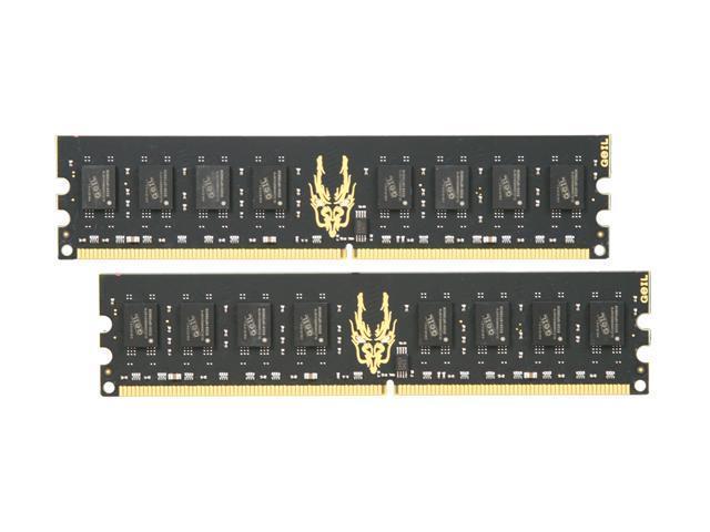 GeIL Black Dragon 4GB (2 x 2GB) 240-Pin DDR2 SDRAM DDR2 800 (PC2 6400) Dual Channel Kit Desktop Memory Model GB24GB6400C5DC