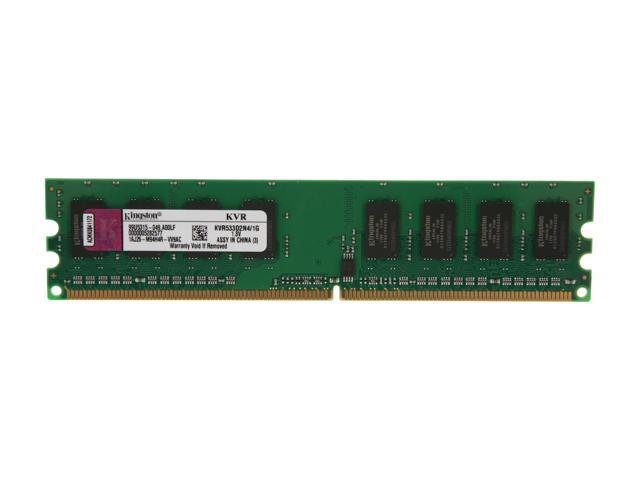 Kingston ValueRAM 1GB 240-Pin DDR2 SDRAM DDR2 533 (PC2 4200) Desktop Memory Model KVR533D2N4/1G