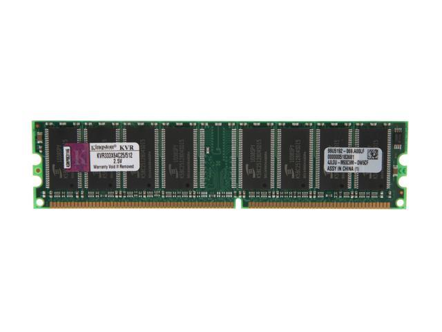 Kingston ValueRAM 512MB 184-Pin DDR SDRAM DDR 333 (PC 2700) Desktop Memory Model KVR333X64C25/512
