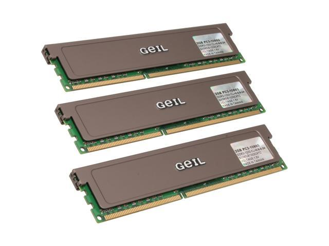 GeIL 6GB (3 x 2GB) 240-Pin DDR3 SDRAM DDR3 1333 (PC3 10660) Triple Channel Kit Desktop Memory Model GV36GB1333C9TC