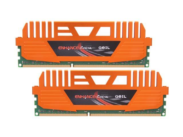 GeIL Enhance CORSA 8GB (2 x 4GB) 240-Pin DDR3 SDRAM DDR3 1333 (PC3 10666) Desktop Memory Model GEC38GB1333C9DC
