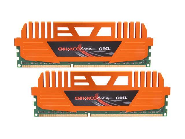 GeIL Enhance CORSA 8GB (2 x 4GB) 240-Pin DDR3 SDRAM DDR3 1600 (PC3 12800) Desktop Memory Model GEC38GB1600C9DC