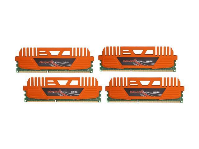GeIL Enhance CORSA 16GB (4 x 4GB) 240-Pin DDR3 SDRAM DDR3 1600 (PC3 12800) Desktop Memory Model GEC316GB1600C9QC