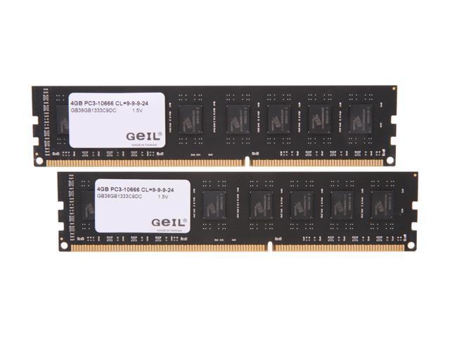 GeIL Black Dragon 8GB (2 x 4GB) 240-Pin DDR3 SDRAM DDR3 1333 (PC3 10666) Desktop Memory Model GB38GB1333C9DC
