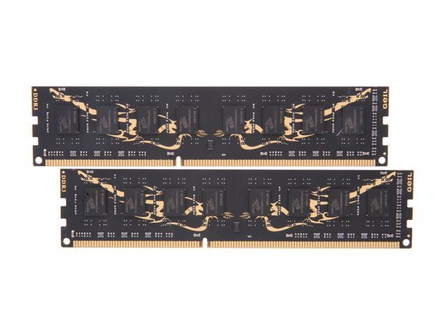 GeIL Black Dragon 8GB (2 x 4GB) 240-Pin DDR3 SDRAM DDR3 1600 (PC3 12800) Desktop Memory Model GB38GB1600C9DC