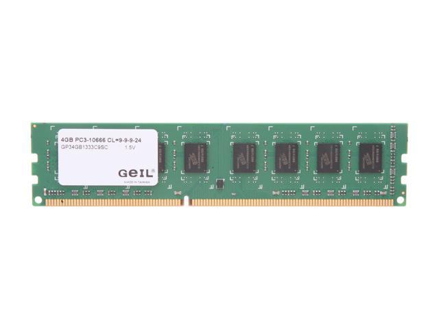 GeIL Pristine 4GB 240-Pin DDR3 SDRAM DDR3 1333 (PC3 10666) Desktop Memory Model GP34GB1333C9SC