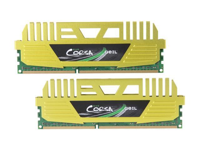 GeIL EVO CORSA Series 16GB (2 x 8GB) 240-Pin DDR3 SDRAM DDR3 1333 (PC3 10660) Desktop Memory Model GOC316GB1333C9DC