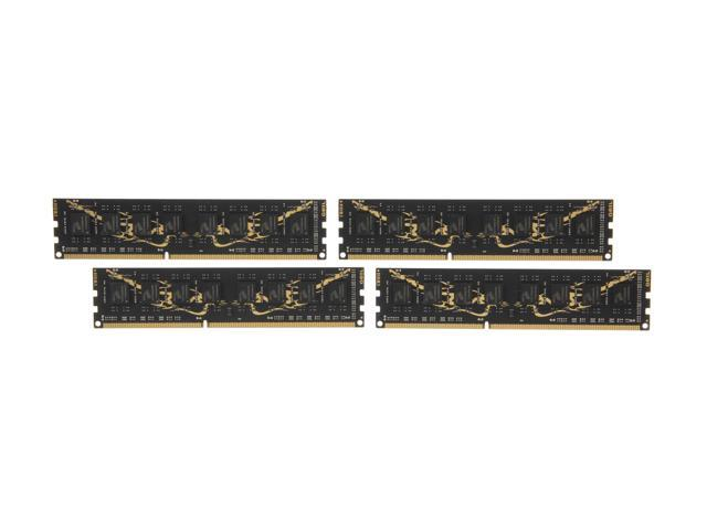 GeIL Black Dragon 32GB (4 x 8GB) 240-Pin DDR3 SDRAM DDR3 1333 (PC3 10660) Desktop Memory Model GB332GB1333C9QC