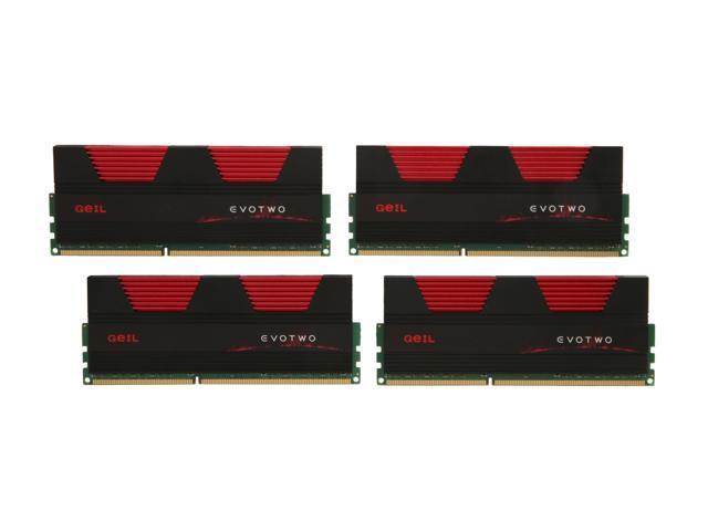 GeIL Evo Two 32GB (4 x 8GB) 240-Pin DDR3 SDRAM DDR3 1333 (PC3 10660) Desktop Memory Model GET332GB1333C9QC