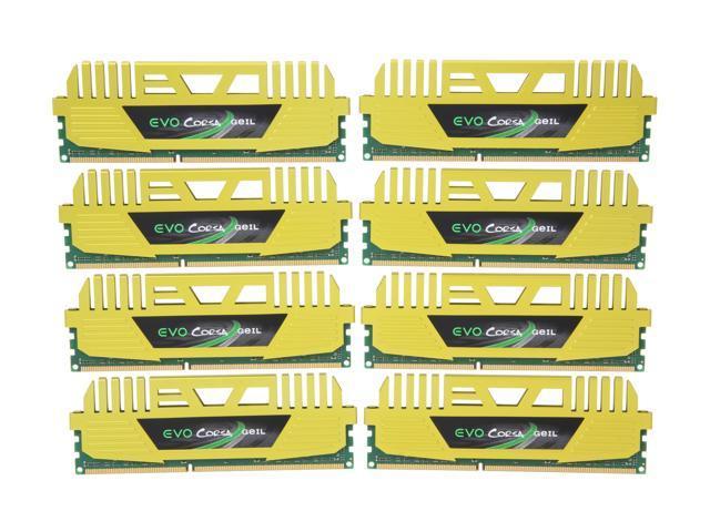 GeIL EVO CORSA Series 64GB (8 x 8GB) 240-Pin DDR3 SDRAM DDR3 1600 (PC3 12800) Desktop Memory Model GOC364GB1600C10DQC