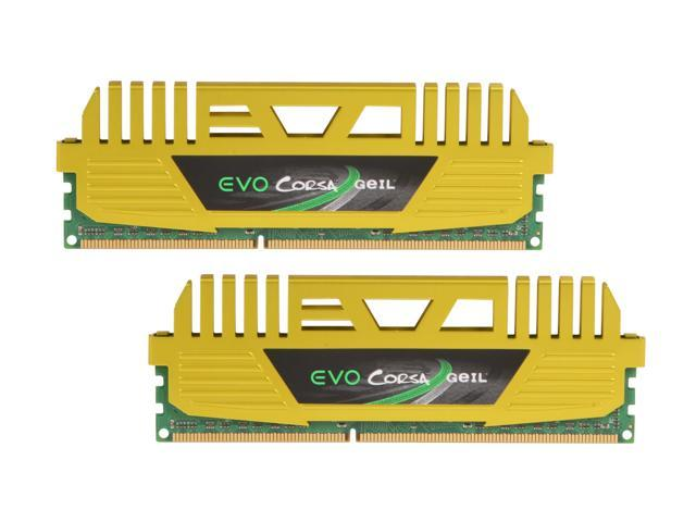 GeIL EVO CORSA Series 16GB (2 x 8GB) 240-Pin DDR3 SDRAM DDR3 2400 (PC3 19200) Desktop Memory Model GOC316GB2400C11ADC