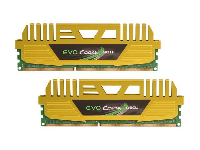 GeIL EVO CORSA Series 16GB (2 x 8GB) 240-Pin DDR3 SDRAM DDR3 1866 (PC3 14900) Desktop Memory Model GOC316GB1866C9DC