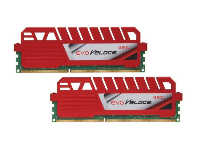 GeIL EVO Veloce Series 8GB (2 x 4GB) 240-Pin DDR3 SDRAM DDR3 1600 (PC3 12800) Desktop Memory Model GEV38GB1600C9DC