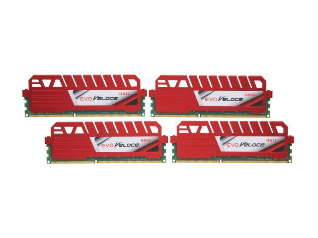 GeIL EVO Veloce Series 16GB (4 x 4GB) 240-Pin DDR3 SDRAM DDR3 1600 (PC3 12800) Desktop Memory Model GEV316GB1600C9QC