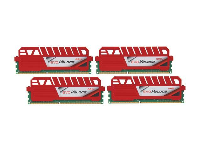 GeIL EVO Veloce Series 32GB (4 x 8GB) 240-Pin DDR3 SDRAM DDR3 1600 (PC3 12800) Desktop Memory Model GEV332GB1600C10QC