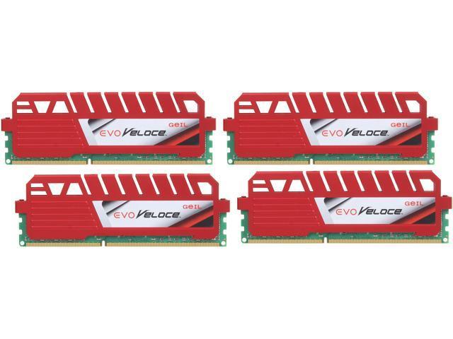 GeIL EVO Veloce Series 32GB (4 x 8GB) 240-Pin DDR3 SDRAM DDR3 2400 (PC3 19200) Desktop Memory Model GEV332GB2400C11AQC