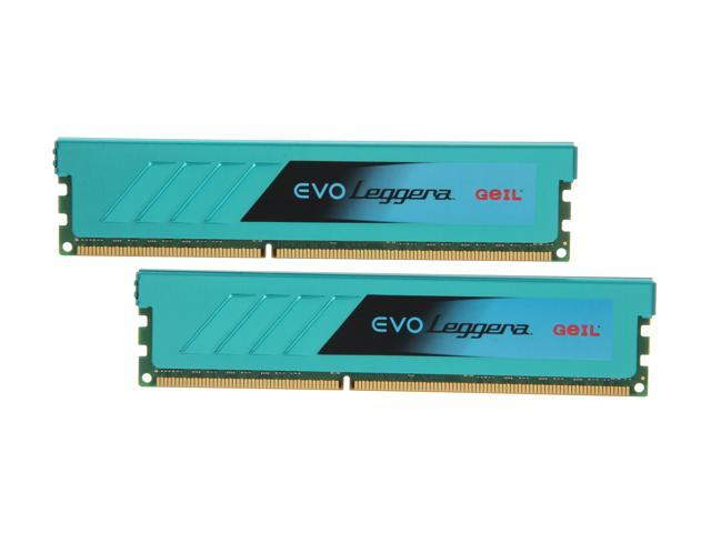 GeIL EVO Leggara Series 8GB (2 x 4GB) 240-Pin DDR3 SDRAM DDR3 1600 (PC3 12800) Desktop Memory Model GEL38GB1600C9DC