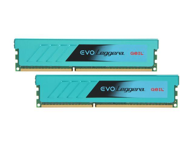 GeIL EVO Leggara Series 16GB (2 x 8GB) 240-Pin DDR3 SDRAM DDR3 1600 (PC3 12800) Desktop Memory Model GEL316GB1600C10DC