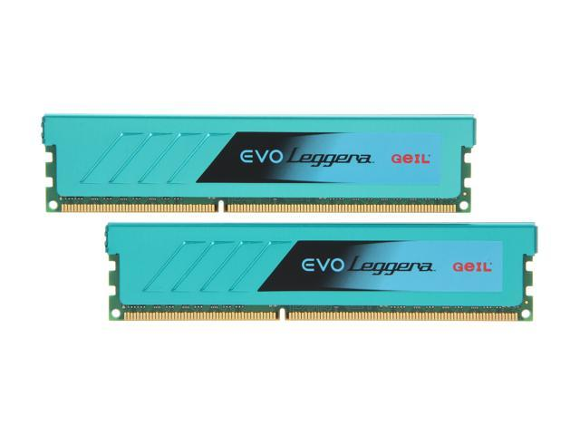 GeIL EVO Leggara Series 8GB (2 x 4GB) 240-Pin DDR3 SDRAM DDR3 1866 (PC3 14900) Desktop Memory Model GEL38GB1866C9DC