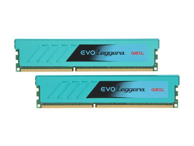GeIL EVO Leggara Series 16GB (2 x 8GB) 240-Pin DDR3 SDRAM DDR3 1866 (PC3 14900) Desktop Memory Model GEL316GB1866C9DC