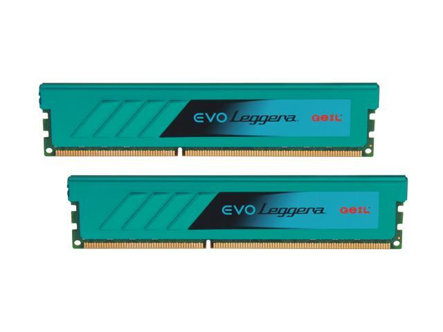 GeIL EVO Leggara Series 16GB (2 x 8GB) 240-Pin DDR3 SDRAM DDR3 2400 (PC3 19200) Desktop Memory Model GEL316GB2400C11ADC